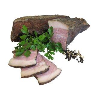 Food-United Bauerngeräuchertes vom Schlegel 300 g Zuschnitt aus der Unterschale des Schweins