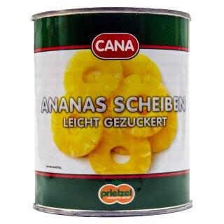 Food-United Ananas Scheiben Ringe leicht gezuckert 1 Dose Füll 825g ATG 490g