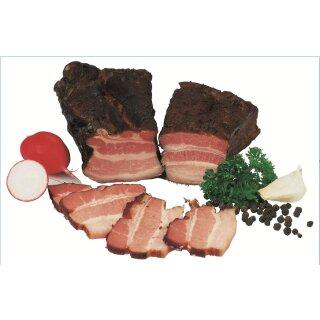 Food-United Brotzeitrankerl schwarzgeräuchert 1200 g aus mageren Schweinebäuchen