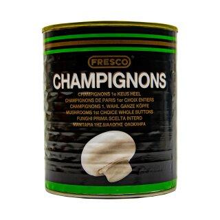 Food-United weiße Champignons ganze Köpfe 1 Dose Füllmenge 800g ATG 460g