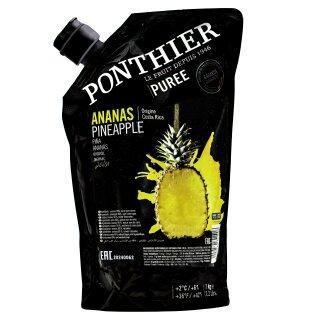 Food-United ANANAS-VICTORIA FRUCHT-PÜREE Ponthier 1KG für Smoothies Müsli uvm.