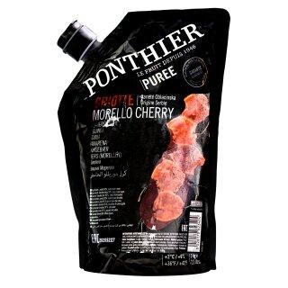 Food-United KIRSCHEN FRUCHT-PÜREE Ponthier 1KG für Smoothies Müsli uvm.