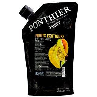 Food-United EXOTISCHE-FRÜCHTE-PÜREE Ponthier 1KG für Smoothies Müsli uvm.