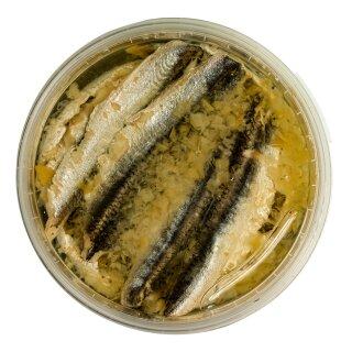 Food-United Fisch – SARDELLEN-FILETS mit ZITRONE 280g in Sonnenblumen-Öl
