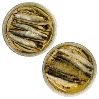 Food-United Fisch-Set - SARDELLEN-FILETS 2 x 280g - Sonnenblumen-Öl & Zitrone