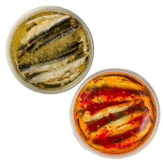 Food-United Fisch-Set - SARDELLEN-FILETS - 2 x 280g - Zitrone & Rote-Chili