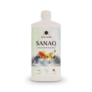 Food-United SANAQ Lebensmittel-Waschbad 1000ml Oberflächenentkeimung Bakterien Viren